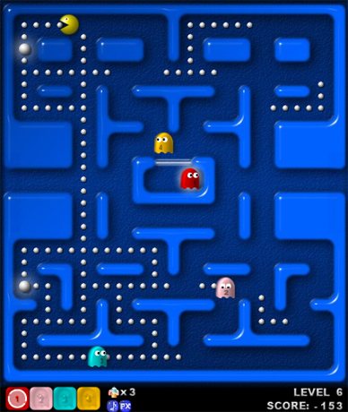 Pacman game online arcade