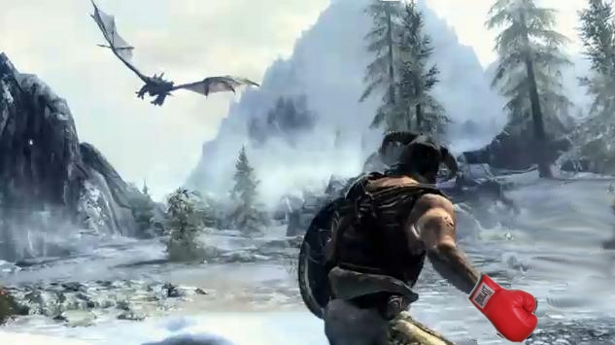 Punching a Dragon to Death in Skyrim (VIDEO) | Game Front