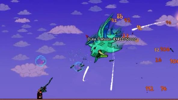 Terraria 1 2 4 update how to summon duke fishron game front for Fishing poles terraria